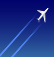 Airplane on sky vector image