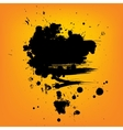 Abstract composition Artistic paint banner on vector image vector image