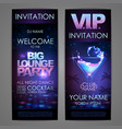 set of disco background banners big lounge vector image
