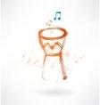 bongo drum grunge icon vector image vector image
