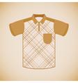 Clothing polo shirt vector image