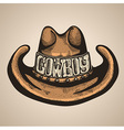 Cowboy hat isolated foe design vector image vector image