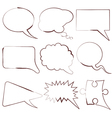 speech and thought bubbles vector image