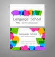 language school logo vector image
