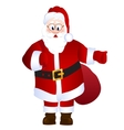 Cartoon Santa Claus with bag with gifts vector image
