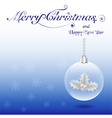 Christmas crystal ball with holly vector image vector image