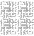 Black maze on white seamless pattern vector image