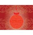 Merry Christmas posstcard vector image vector image