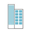buildings cityscape scene icon vector image