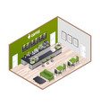 Coffee house isometric interior vector image