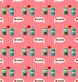 coffee maker seamless pattern vector image
