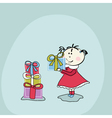 gifts for little baby girl vector image