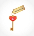 key with welcome tag vector image