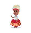 little girl wearing national costume of brazil vector image