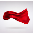 Red Satin Fabric Flying in the Wind vector image