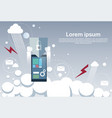 tablet computer device data protection cloud vector image