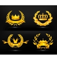 Vintage emblem set on black vector image