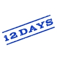 12 Days Watermark Stamp vector image