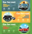 car for rent banner set in flat design vector image
