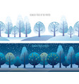 a seamless trees set vector image
