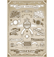 Vintage Hand Drawn Graphic Page Banner vector image vector image