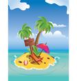 Cartoon Palm Island vector image