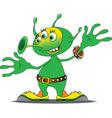 Alien cartoon vector image