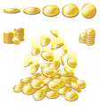 golden coin vector image vector image
