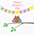 owl mom day vector image