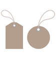 Luggage tags vector image