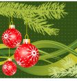 Christmas fir and balls vector image vector image