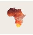 Africa map Africa grunge logo Africa logog vector image