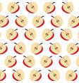 apple fruit harvest fresh seamless pattern image vector image