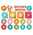 Bitcoin symbol flat coin with shadow vector image