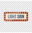 light sign realistic billboard template vector image