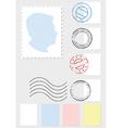 postage stamp set vector image