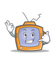 Tv character cartoon object call me vector image