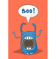 Scaring monster vector image