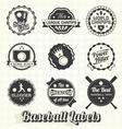 Vintage Quality Baseball Labels vector image