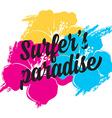 Surf summer icon design label vector image