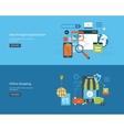 Set of flat design concepts vector image