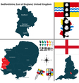 Bedfordshire East of England vector image