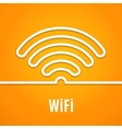 WiFi icon on orange background vector image