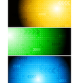 Bright technical banners vector image vector image