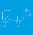 Cow icon outline style vector image