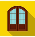 Double door icon flat style vector image