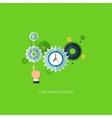 Flat design time management vector image