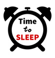 minimalistic of a clock with time for sleep text vector image