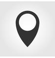 Pin icon flat design vector image