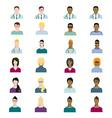 Set of people avatars profession professional vector image